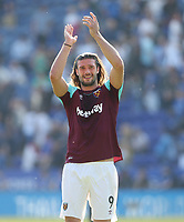 West Ham United's Andy Carroll <br /> <br /> Photographer Rob Newell/CameraSport<br /> <br /> The Premier League - Leicester City v West Ham United - Saturday 5th May 2018 - King Power Stadium - Leicester<br /> <br /> World Copyright &copy; 2018 CameraSport. All rights reserved. 43 Linden Ave. Countesthorpe. Leicester. England. LE8 5PG - Tel: +44 (0) 116 277 4147 - admin@camerasport.com - www.camerasport.com