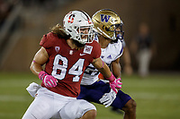 Stanford, CA - October 05, 2019: Colby Parkinson during the Stanford vs Washington football game Saturday night at Stanford Stadium.<br /> <br /> Stanford won 23-13.