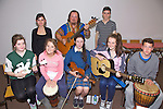 Pictured at The Culture Night Song Writing Workshop in the Community Centre Cahersiveen on Friday were front l-r; Catilin O'Neill, Alanna O'Sullivan, Aisling Wharton, Donna Fitzgerald, Colin Orme, back l-r; Aoibhe O'Connor, Andrew 'Skatz' Scattergood & Daragh O'Donoghue.