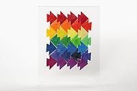 OrigamiUSA 2017 Holiday Tree at the American Museum of Natural History. Base 10 models:<br /> Escher Fish Tessellation: Designer &ndash; Nick Robinson, Folder &ndash; Rosalind Joyce