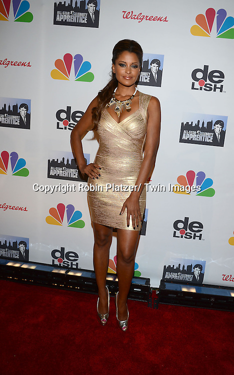 "Claudia Jordan  attends the ""All-Star Celebrity Apprentice Finale Party "".on May 19, 2013 at Cipriani 42nd Street in New York City."