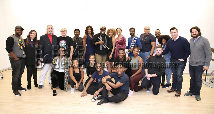 "The cast and creative team During the Open Rehearsal for the Miami New Drama's World Premiere Musical  ""A Wonderful World"" at the Ripley-Grier Studios on January 26, 2020 in New York City."