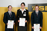 Girls Gym Aerobics finalists Charlotte Bass, Honor Lock & Kristi Bain. ASB College Sport Young Sportperson of the Year Awards 2007 held at Eden Park on November 15th, 2007.