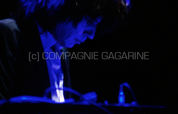 """Jean Michel Jarre performing his """"Oxygene"""" concert at the Cirque Royal, Brussels (Belgium, 24/03/2008)"""