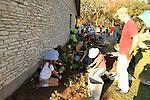 Planting a school butterfly garden
