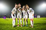 03.12.2017, Platz 11, Bremen, GER, DFB Pokal der Frauen, Achtelfinale, SV Werder Bremen vs SGS Essen, <br /> <br /> im Bild | picture shows<br /> vl. Marina Hilgering (SGS Essen #27), Manjou Wilde (SGS Essen #8), Ina Lehmann (SGS Essen #21) und Linda Dallmann (SGS Essen #10), <br /> <br /> Foto &copy; nordphoto / Rauch