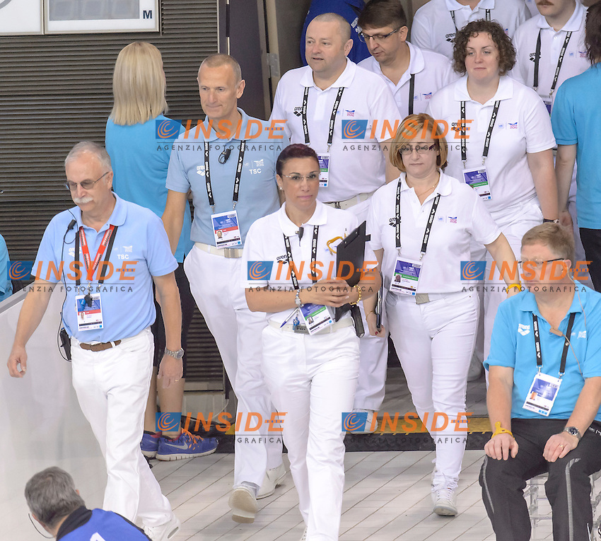 JUDGES <br /> <br /> London, Queen Elizabeth II Olympic Park Pool <br /> LEN 2016 European Aquatics Elite Championships <br /> Swimming<br /> Day 10 18-05-2016<br /> Photo Andrea Staccioli/Deepbluemedia/Insidefoto