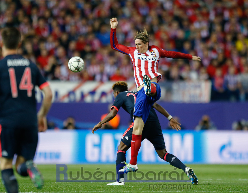 Atletico Madrid´s Spanish forward Fernando Torres during the UEFA Champions League match between Atletico Madrid and Fc Bayern Munich at the Vicente Calderon Stadium in Madrid, Wednesday, April 27, 2016