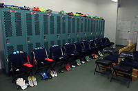 Cary, North Carolina  - Saturday June 03, 2017: Courage locker room prior to a regular season National Women's Soccer League (NWSL) match between the North Carolina Courage and the FC Kansas City at Sahlen's Stadium at WakeMed Soccer Park. The Courage won the game 2-0.
