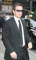 June 11, 2012: Mark Wahlberg at Late Show with David Letterman in New York City. © RW/MediaPunch Inc. NORTEPHOTO.COM