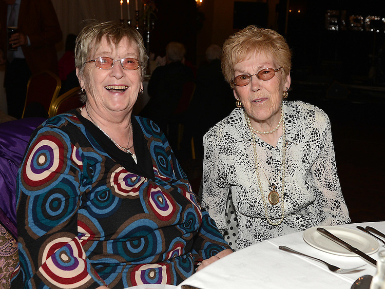 Kathleen Callaghan and Phyllis McGovern pictured at the Gardening Club annual Christmas Dinner in the Westcourt hotel. Photo:Colin Bell/pressphotos.ie
