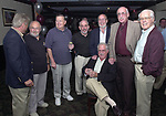 Joe Dombroski, Bob Luckey, Stan Wolfson, Don Norkett, Dick Kraus, and Tom Maguire seen gathered around John Cornell at his retirement party on October 10, 2000. Photo by Jim Peppler. Copyright/Jim Peppler-2000
