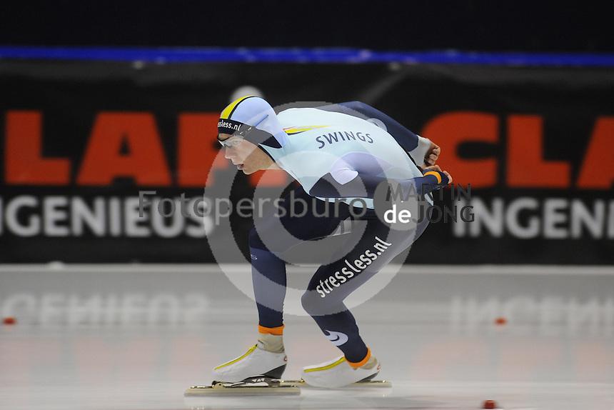 SCHAATSEN: HEERENVEEN: IJsstadion Thialf 05-02-2016, Topsporttraining en wedstrijd, Bart Swings (BEL), ©foto Martin de Jong