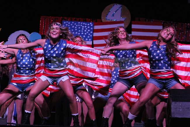 Members from Delta Gamma perform at Greek Sing 2015 at Memorial Coliseum Saturday, March 7, 2015 in Lexington. Photo by Joel Repoley | Staff
