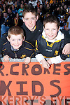 TEAM: Getting behind the Crokes team at the All Ireland Club Final in Portlaoise on Sunday were David Rae, Conor Murphy and Jordan Kiely. .