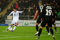 Yan Dhanda of Swansea City scores the opening goal during the Sky Bet Championship match between Swansea City and Charlton Athletic at the Liberty Stadium in Swansea, Wales, UK.  Thursday 02 January 2020
