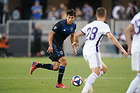 SAN JOSE, CA - JULY 16: Shea Salinas #6 of the San Jose Earthquakes during a friendly match between the San Jose Earthquakes and Real Valladolid on July 16, 2019 at Avaya Stadium in San Jose, California.