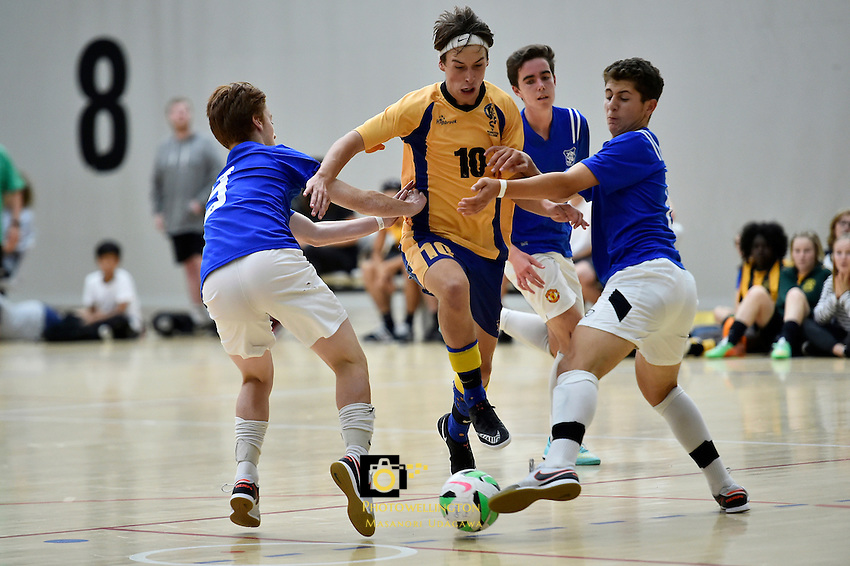 Futsal - CSW Champs at ASB Sport Centre, Wellington, New Zealand on Saturday 19 March 2016. <br /> Photo by Masanori Udagawa. <br /> www.photowellington.photoshelter.com.