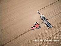 63801-10111 Farmer planting corn-aerial Marion Co. IL