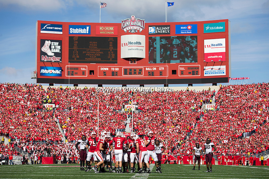 best service 37ffa 82fe0 A general view from field level of Camp Randall Stadium during the Wisconsin  Badgers NCAA Big