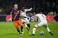 Sergio Aguero of Manchester City in action during Lyon vs Manchester City, UEFA Champions League Football at Groupama Stadium on 27th November 2018