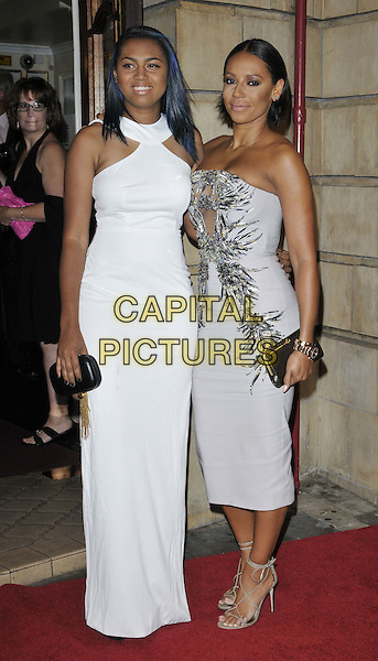 LONDON, ENGLAND - OCTOBER 23: Phoenix Gulzar &amp; Melanie Brown ( Mel B ) attend the &quot;Memphis&quot; press night performance, Shaftesbury Theatre, Shaftesbury Avenue, on Thursday October 23, 2014 in London, England, UK. <br /> CAP/CAN<br /> &copy;Can Nguyen/Capital Pictures