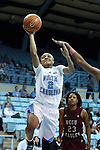 12 December 2012: North Carolina's Latifah Coleman. The University of North Carolina Tar Heels played the North Carolina Central University Eagles at Carmichael Arena in Chapel Hill, North Carolina in an NCAA Division I Women's Basketball game. UNC won the game 49-21.