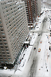 February 12th 2006. .New York, New York. United States..6th avenue the day after a record-breaking snow storm.