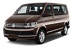 2016 Volkswagen Caravelle Comfortline 5 Door Minivan Angular Front stock photos of front three quarter view