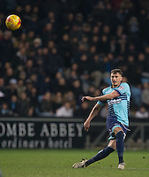 Will De Havilland of Wycombe Wanderers during the The Checkatrade Trophy - EFL Trophy Semi Final match between Coventry City and Wycombe Wanderers at the Ricoh Arena, Coventry, England on 7 February 2017. Photo by Andy Rowland.