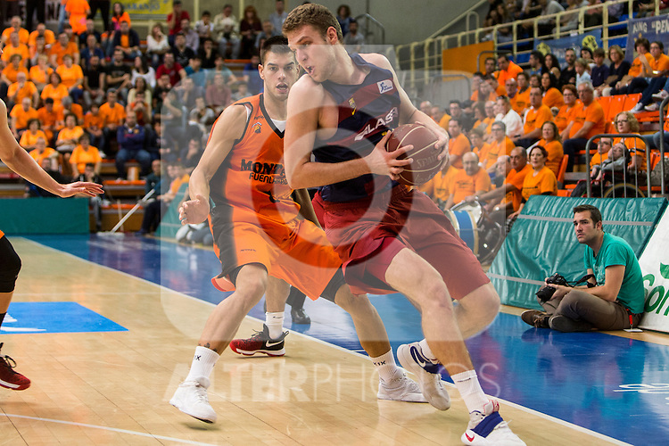 during the match of Endesa ACB League between Fuenlabrada Montakit and FC Barcelona Lassa at Fernando Martin Stadium in fuelnabrada,  Madrid, Spain. October 30, 2016. (ALTERPHOTOS/Rodrigo Jimenez)