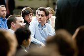 Ed Miliband MP, launch of Labour's Green Manifesto, Westminster Academy, Labour General Election Campaign, London