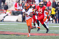College Park, MD - October 27, 2018: Illinois Fighting Illini running back Reggie Corbin (2) catches a pass during the game between Illinois and Maryland at  Capital One Field at Maryland Stadium in College Park, MD.  (Photo by Elliott Brown/Media Images International)