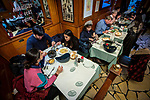 """BRUSSELS - BELGIUM - 16 December 2019 --  Restaurant """"Chez Léon"""" with a concept of serving """"Mussels and Fries"""", was established in 1893 in Brussels. It is the largest restaurant in the country in terms of turnover, number of customers and staff. -- Chez Léon is popular among Chinese tourists. -- PHOTO: Juha ROININEN / EUP-IMAGES"""