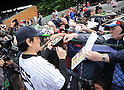 Hideki Matsui (Yankees), MAY 24, 2014 - MLB : Former New York Yankees player Hideki Matsui signs autographs during the Hall of Fame Classic baseball game in Cooperstown, New York, United States. (Photo by AFLO)