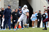 BLACKSBURG, VA - OCTOBER 19: Garrett Walston #84 of the University of North Carolina runs with the ball during a game between North Carolina and Virginia Tech at Lane Stadium on October 19, 2019 in Blacksburg, Virginia.