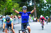 Aaron Gate of New Zealand/Black Spoke Pro Cycling Academy wins stage one. Day one of the NZ Cycle Classic UCI Oceania Tour in Wairarapa, New Zealand on Wednesday, 15 January 2020. Photo: Dave Lintott / lintottphoto.co.nz