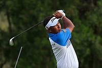Thongchai Jaidee (THA) on the 4th tee during Round 1 of the Omega Dubai Desert Classic, Emirates Golf Club, Dubai,  United Arab Emirates. 24/01/2019<br /> Picture: Golffile | Thos Caffrey<br /> <br /> <br /> All photo usage must carry mandatory copyright credit (&copy; Golffile | Thos Caffrey)