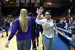DURHAM, NC - NOVEMBER 16: High Point head coach DeUnna Hendrix. The Duke University Blue Devils hosted the High Point University Panthers on November 16, 2017 at Cameron Indoor Stadium in Durham, NC in a Division I women's college basketball game. Duke won the game 77-50.