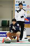 (L to R) Yusuke Morozumi (SC Karuizawa), Shinya Abe (Sapporo), SEPTEMBER 16, 2013 - Curling : Olympic qualifying Japan Curling Championships Men's Final second Mach between SC Karuizawa 7-9 Sapporo at Dogin Curling Studium, Sapporo, Hokkaido, Japan. (Photo by Yusuke Nakanishi/AFLO SPORT)