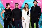 Pepe Ocio, Erika Bleda and Ivan Sanchez attend 23th Malaga Film Festival cocktail party at Circulo de Bellas Artes on March 03, 2020 in Madrid, Spain.(ALTERPHOTOS/ItahisaHernandez)