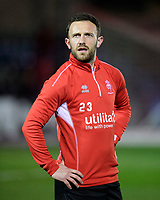 Lincoln City's Neal Eardley during the pre-match warm-up<br /> <br /> Photographer Chris Vaughan/CameraSport<br /> <br /> The EFL Sky Bet League Two - Lincoln City v Exeter City - Tuesday 26th February 2019 - Sincil Bank - Lincoln<br /> <br /> World Copyright © 2019 CameraSport. All rights reserved. 43 Linden Ave. Countesthorpe. Leicester. England. LE8 5PG - Tel: +44 (0) 116 277 4147 - admin@camerasport.com - www.camerasport.com