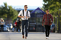 San Jose, CA - Saturday October 06, 2018: Yeferson Quintana, Eric Calvillo prior to a Major League Soccer (MLS) match between the San Jose Earthquakes and the New York Red Bulls at Avaya Stadium.