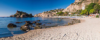 Panoramic photo of Isola Bella Beach, Taormina, Sicily, Italy, Europe. This is a panoramic photo of Isola Bella Beach, Taormina, Sicily, Italy, Europe. Isola Bella Beach is the best beach at Taormina due to its beautiful location and the presence of Isola Bella Island.
