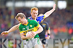 Donnchadh Walsh, Kerry in action against George Hennigan, Tipperary in the first round of the Munster Football Championship at Fitzgerald Stadium on Sunday.