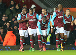 West Ham's Michail Antonio celebrates scoring his sides opening goal<br /> <br /> - English Premier League - West Ham Utd vs Tottenham  Hotspur - Upton Park Stadium - London - England - 2nd March 2016 - Pic David Klein/Sportimage