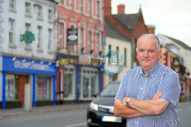 John Caffrey from Ardee.<br /> Pictured in the main street in Ardee where most of the shops are closed up.<br /> Picture www.newsfile.ie