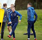 21.02.2019: Rangers training: Steven Davis and Kyle Lafferty