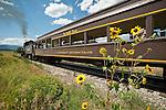 San Luis & Rio Grande Railroad  Railroad's No. 18 leaves the depot in La Veta and returns toward Alamosa, Colorado..(ALCO 2-8-0 ex Grand Canyon 18 and LS&I 18)