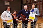 SHOW TIME: Castleisland Presentation Secondary School, pictured at the launch of their talent show, in the school gym on Friday last, were front l-r: Laura Manley (Currow), Kelly-Anne Nix (Knocknagoshel), Caitlin Curtain (Knocknagoshel) and Katie O'Connor (Castleisland).